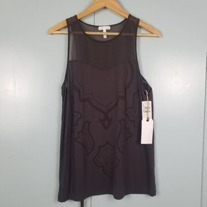 Nordstrom Leith brown tank top size M -N2